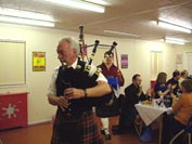 piping the haggis out