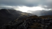 Storm chasing in from near summit of Sgor na h-ulaidh