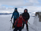 Summit photo on Ben Ledi