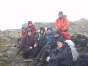 Cold wet and windy summit of Narnain
