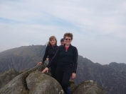 Dorothy Mark and Irene on Cir Mhor