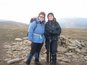 Irene and Dotty on Meall a Choire Leith