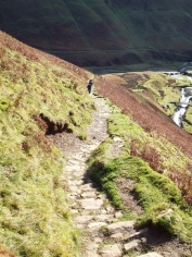 Path up to the Grey Mare's Tail