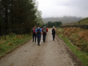 at the start of the walk