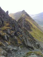 Looking along Striding Edge