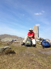 Robin at the summit of The Brack