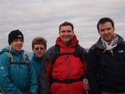Gail, Irene, Michael and Charlie on summit of Duncolm Hill