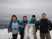 Maureen, Irene, Gail and Michael on the summit