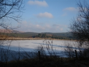 another look at the frozen Carron Valley Reservoir