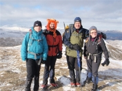 Gail, Ewan, Robin and Irene at the summit