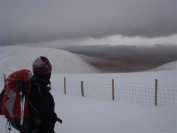 Irene in snow and clag