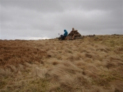 Maureen on a Knockside Hill cairn