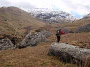 Robin heading to Beinn A Chroin