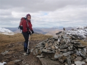 Irene on Beinn a Chroin