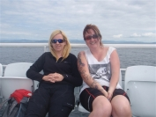 Gail and Ailsa on the Claonaig ferry