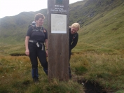Irene and Gail at the Ben Lui signpost