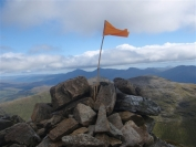 Summit flag on Ben Lui