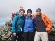 Irene Gail and Kenny on summit of Ben Lui