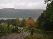 looking back to Loch Earn