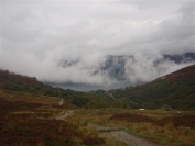 cloud coming up from Loch Earn