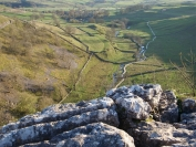 Looking down valley from Malham Cove